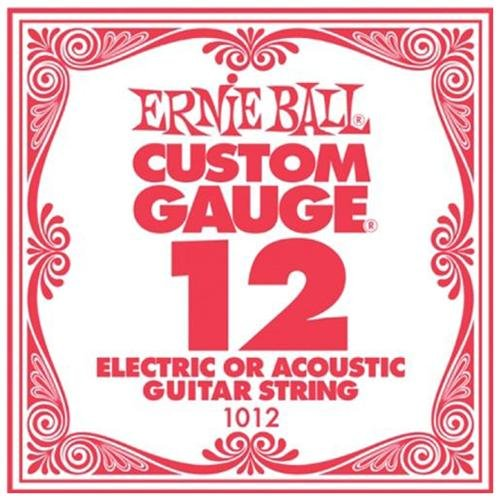 ernie ball 12 custom gauge guitar single strings electric or acoustic pack 6 ebay. Black Bedroom Furniture Sets. Home Design Ideas